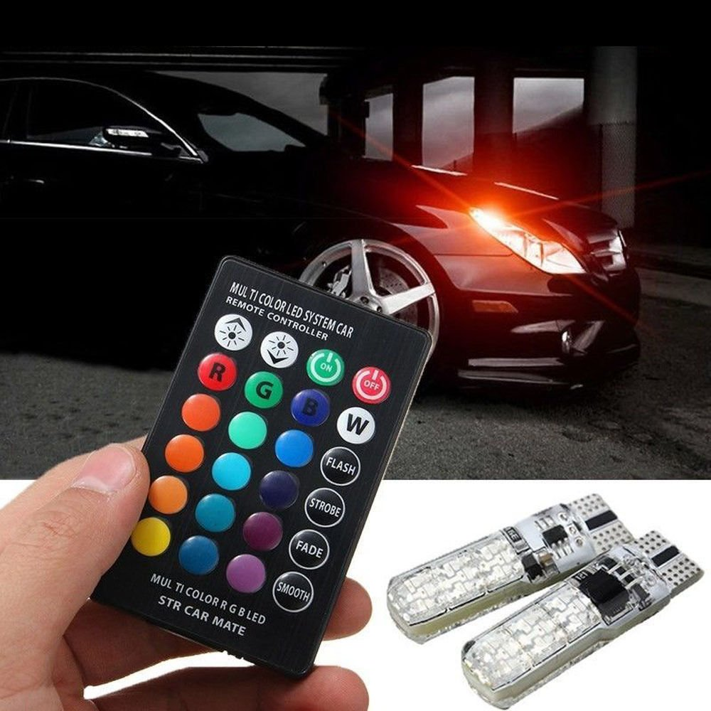 Auto Accessories T10 W5W ABS LED Car Lights RGB with Remote for Ford Focus 2 3 Mk2 Toyota Trd Camry Rav4 Alfa Romeo 147 156 159
