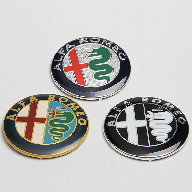74mm 7.4cm ALFA ROMEO Car Logo emblem Badge sticker for Mito 147 156 159 166